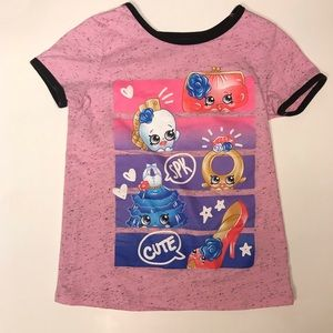 Shopkins 👛👠💍 Sz 7-8 graphic ringer tee
